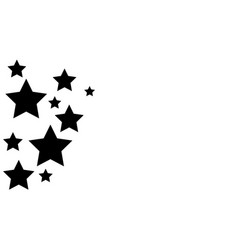Background black star style collection vector