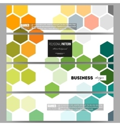 Banners set Abstract colorful business background vector image