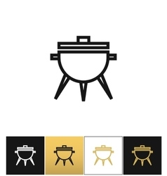 Bbq symbol or meal cooking grill icon vector