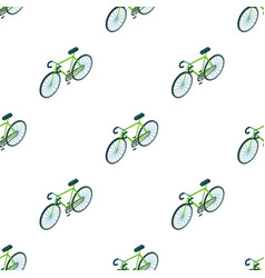 bicycle icon in cartoon style isolated on white vector image vector image