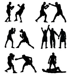boxers in fight vector image