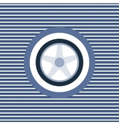 Car wheel color flat icon vector image