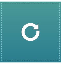Circular arrow flat icon vector