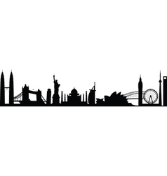 cityscape worldwide vector image vector image