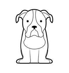 cute dog mascot icon vector image