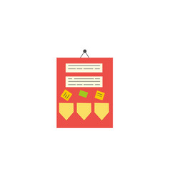 Flat style classroom announcement board icon vector