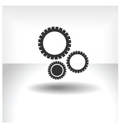 gears icon silhouette vector image