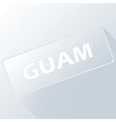 Guam unique button vector