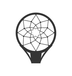 Hoop net basketball vector