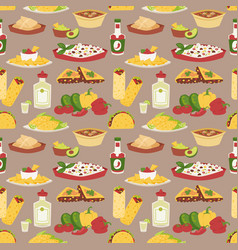 mexican traditional dish with meat mexico food vector image vector image