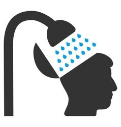 Open mind shower flat icon vector
