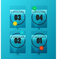Option banner modern infographic vector image