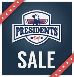 Presidents day sale banner vector