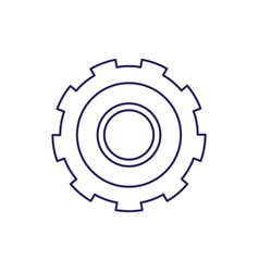 Purple line contour of gear of wheel vector