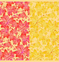 seamless autumn pattern with maple leaves vector image