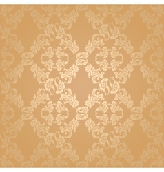 seamless background flowers floral gold vector image vector image