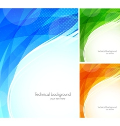 Set of tech backgrounds vector image vector image