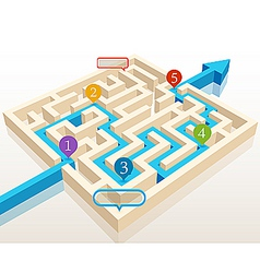 solved maze vector image