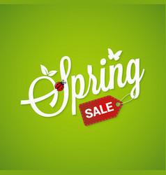 Spring sale lettering design background vector