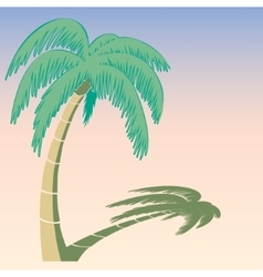 The palm tree vector