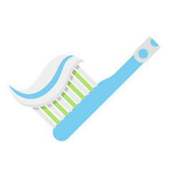 toothbrush icon flat style vector image vector image