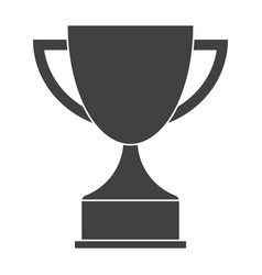 trophy cup silhouette vector image vector image