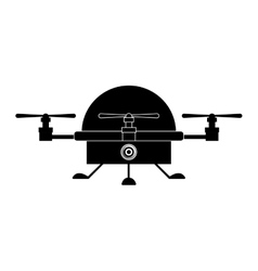 Isolated drone design vector