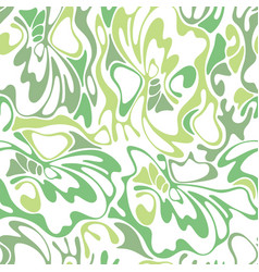 color seamless swirl olive grass background green vector image