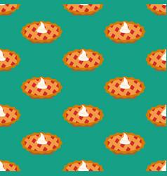 cherry pie seamless pattern vector image