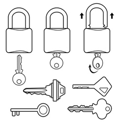 Key outline vector