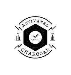 Purified bamboo charcoal guarantee logo with vector