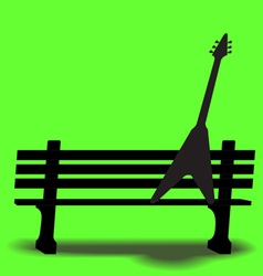 Bench guitar 3 vector