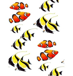 Fish pattern6 vector
