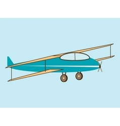 Airplane wing agricultural aircraft vector