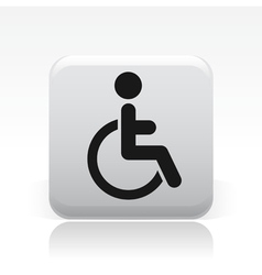 Handicap icon vector