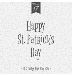 Happy st patricks day greeting card template vector