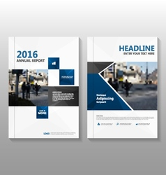 Blue black annual report leaflet brochure vector