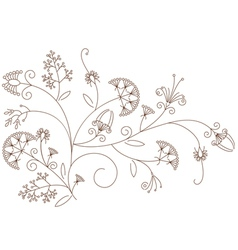 Floral pattern plant ornament vector