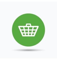 Basket icon shopping cart sign vector