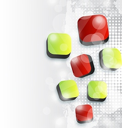 Abstract squares background for your advertise vector image vector image