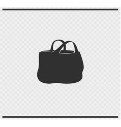 Bag icon black color on transparent vector