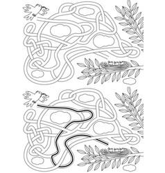 Bird maze vector