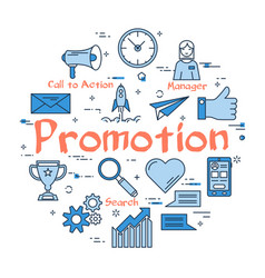 blue round promotion concept vector image
