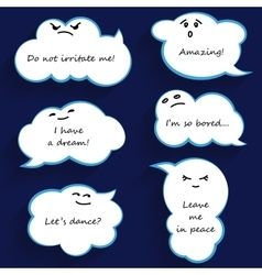 Cartoon cloud bubbles vector image vector image