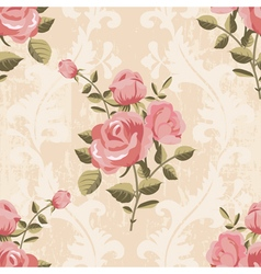 Classic rose pattern seamless wallpaper vector