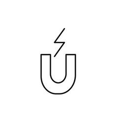 Electromagnet icon vector
