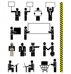 job professions icons vector image vector image