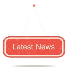 Latest news vector image