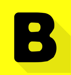 Letter b sign design template element black icon vector
