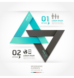 Modern arrow communication origami style vector